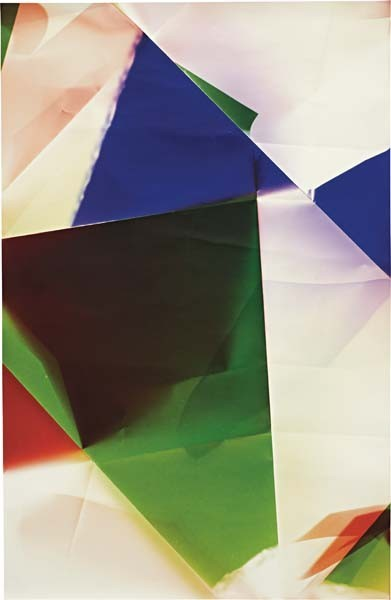 Walead Beshty (English, Born 1976). Untitled, 2008. Photogram on color photographic paper. Signed and dated en verso.