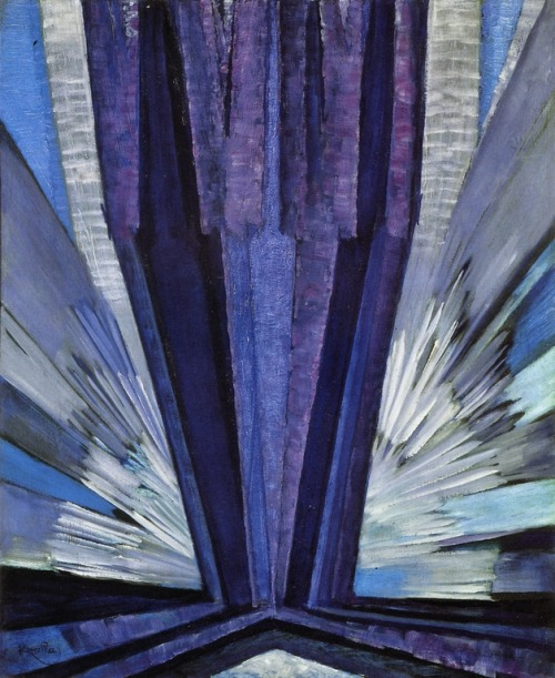cavetocanvas:  Frantisek Kupka, Shape of Blue, 1913-24