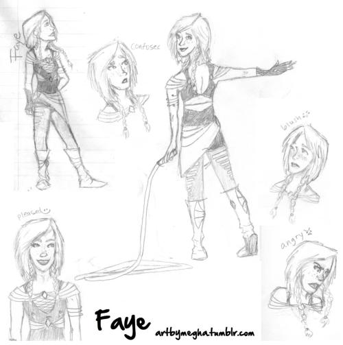 this is Faye you guise C: ok so usually when i have OCs, they come out of literature. This girl was a product of my homework a couple days ago (top right) and now i dont know what to do with her :| but you tell me! leave an idea here , and i'll put your words up :D some info about Faye: Faye is an independent individual who struggles to embrace her feminine side, considering the fact that she's been with men her whole life however she is a strong seventeen year old who knows how to keep herself - and her team - in check. (c)artbymegha