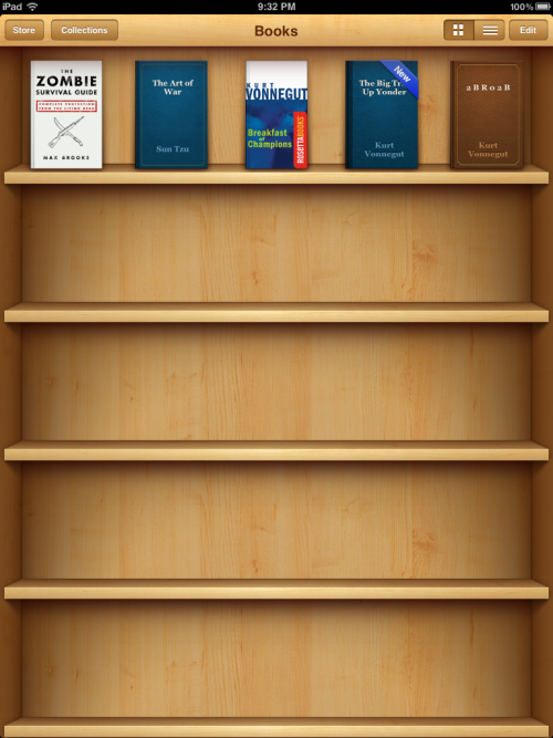 Stocking my iBookshelf.