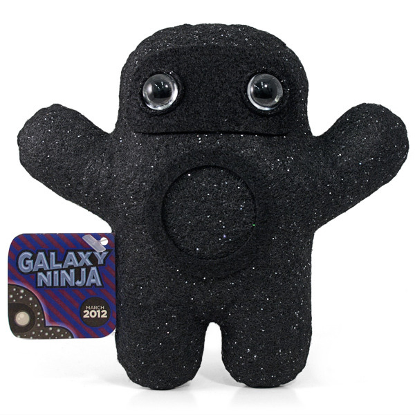 Ninja of the Month: Galaxy Ninja This might be Shawnimals' tripiest ninja yet. Galaxy Ninja has star-print fabric, a zen circle, and black hole eyes. The only way he could be cooler is if he could shoot gamma ray bursts from his zen circle. Get him for $30 at Shawnimals.