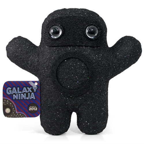 albotas:  Ninja of the Month: Galaxy Ninja This might be Shawnimals' tripiest ninja yet. Galaxy Ninja has star-print fabric, a zen circle, and black hole eyes. The only way he could be cooler is if he could shoot gamma ray bursts from his zen circle. Get him for $30 at Shawnimals.