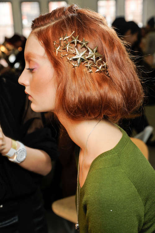 suicideblonde:  Codie Young backstage at Rodarte Fall 2012