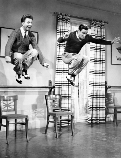 missfolly:   An Incredible Movie Moment: Gene Kelly and Donald O'Connor in 'Singin' in the Rain', 1952