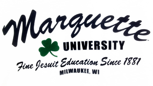 Marquette University: Fine Jesuit Education Since 1881, Milwaukee, WI — from a Marquette Spirit Shop shamrock tee.
