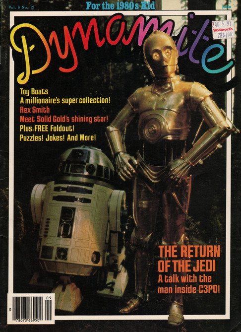 Dynamite Issue 109: The Return of the jedi A talk with the man inside C3PO! Toy Boats - A millionaire's super collection!! Rex Smith - Meet Solid Gold's shining star!