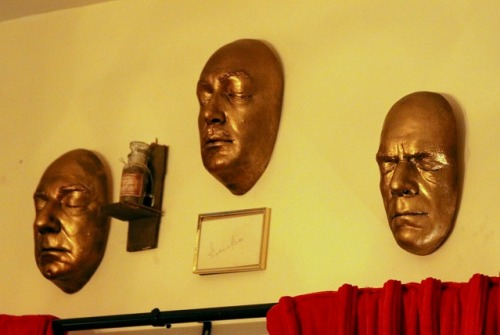 Life casts of Bela, Vincent and Boris. Also, a jar of Bela's grave dirt and Vincent's autograph!