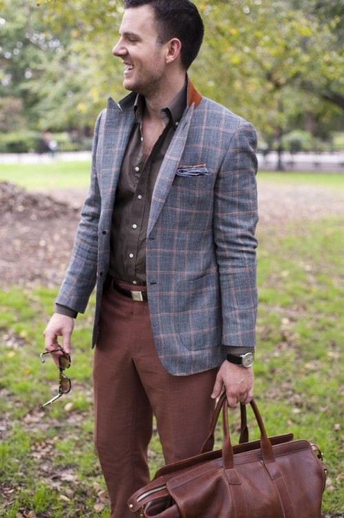 thetieguy:  great windowpane jacket here!