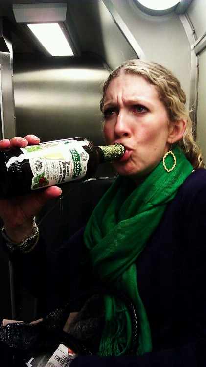 Ladies and gentlemen, I give you Mrs. Trainbeer. She just told me she felt like the wife of a fascist dictator. Clearly, the gravity of this tradition is not lost on her.