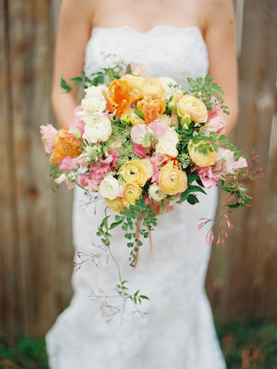 ranunculus and tulip bouquet from The Bride's Cafe…photographer Amelia Johnson