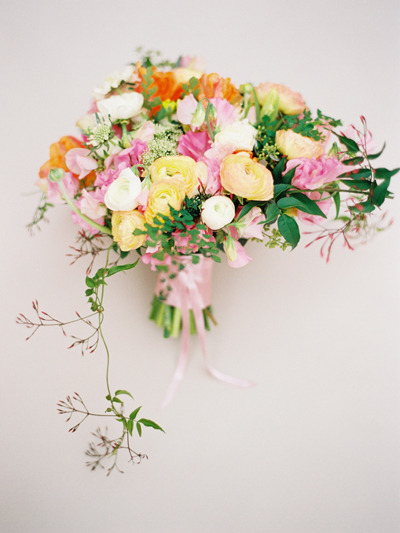 ranunculus and tulip bouquet from The Bride's Cafe….photographer Amelia Johnson