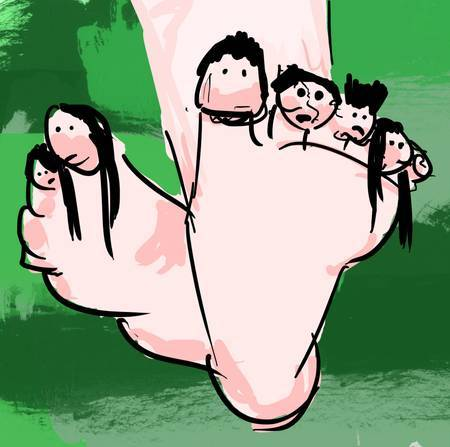 nathanlivni:  Anthropomorphized Body Parts: The Toe Family