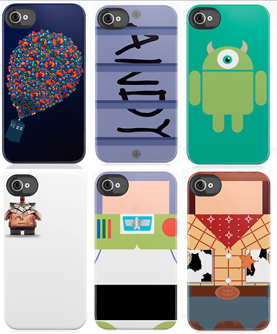 pixarmovies:  Some fun Pixar iPhone cases. And for you Doctor Who fans out there, a few cross overs as well! http://www.redbubble.com/shop/pixar+iphone-cases