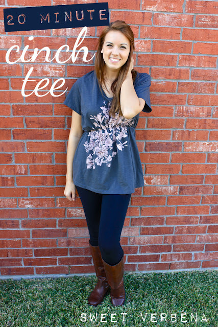 (via Sweet Verbena: 20 Minute Cinch Tee: a tutorial)