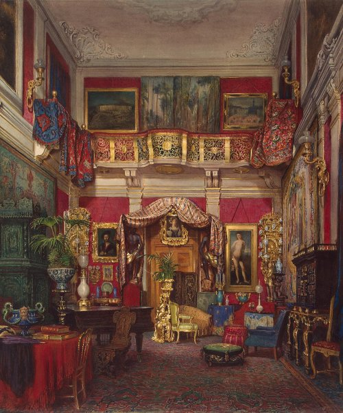 necspenecmetu:  Emmanuel Stockler, Room in the Quarto Villa, Near Florence, 1873