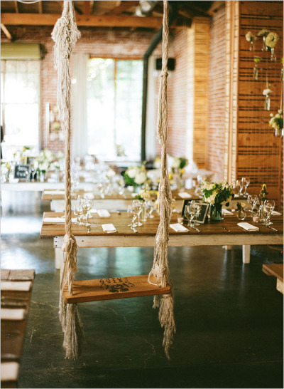 fuckyeahweddingideas:  A swing at an indoor wedding reception…I've seen it all!