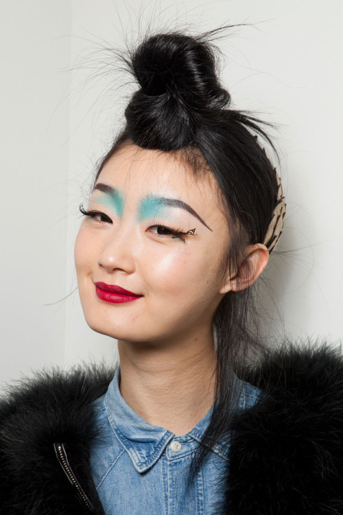 Coloured Eyebrows for Manish Arora FW 2012