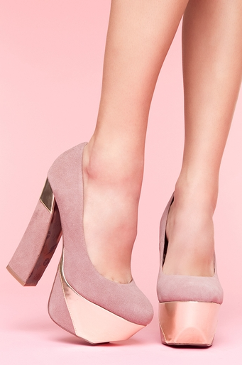 "COLOR ME DESIROUS.So lovely! 8.5"" of pure lust.Foxy Platform Pump - Lavender. $160. { via Nasty Gal }"