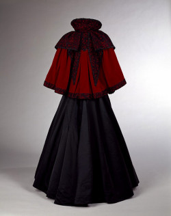 Velvet shoulder cape designed by Mrs. Ball, 1893-1895