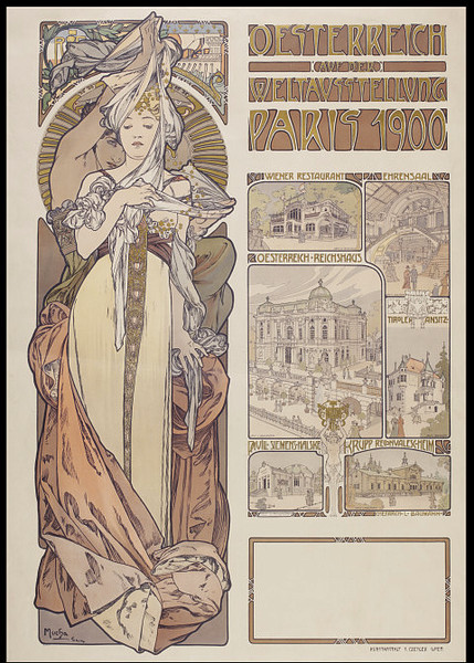 Poster for the Paris International Exhibition by Alphonse Mucha, 1900