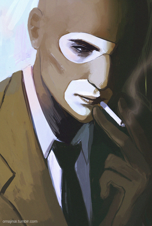 A spy smokin'. A smokin' spy.