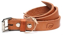 "Division 14 oz. Vegetable tan ""Thin"" belt"