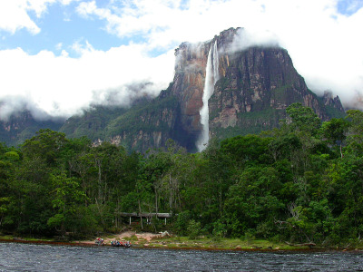 the highest waterfall in the worldAngel FallsVenezuela