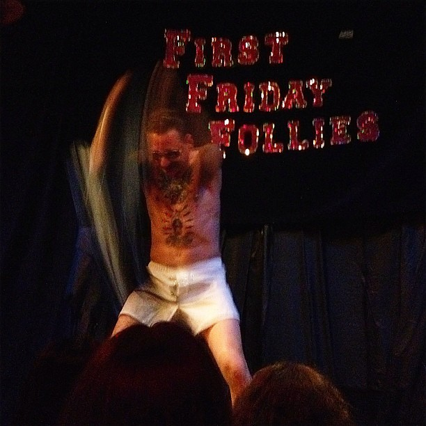 A little man action down at the Stork.  #firstfridayfollies #burlesque #oakland  (Taken with Instagram at Stork Club)