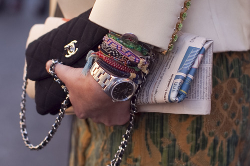 BeLighter Street Style: Details, MFW Bag: Chanel