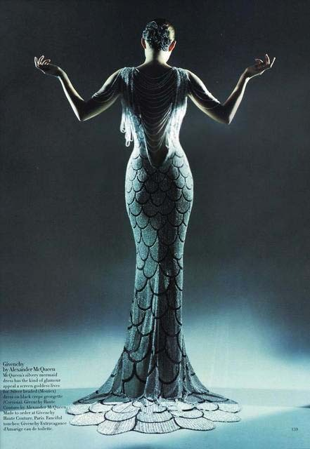 Remember this dress? Alexander McQueen had designed this mermaid dress while at Givenchy.