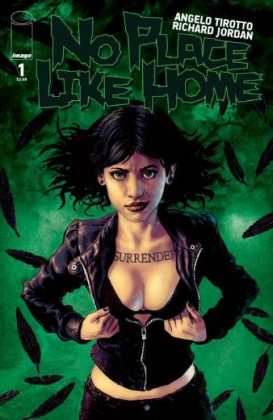 "No Place Like Home #1, cover by Richard Jordan. I was just about to stop posting covers for today, but his one is really beautiful, and maybe it's because I'm a fan of Brittany Murphy.  Comic Book Resources: 'The basic idea involves Dee coming back to Emeraldsville, Kansas, after her parents died in circumstances around a tornado touching down. If you don't already see the multiple callouts to ""The Wizard of Oz"" in that one sentence, you've clearly never experienced the book, movie, play or any other form of L. Frank Baum's classic story.'"