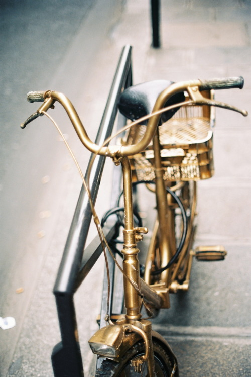 So cool, I want to paint my bike gold!  Oh wait…I don't have a bike.  Bummer.
