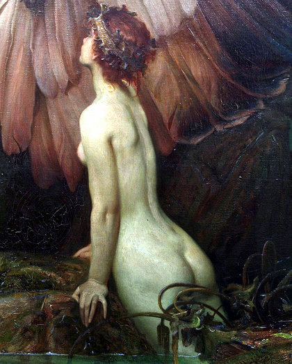 deadpaint:  Herbert James Draper, The Lament for Icarus (Detail)