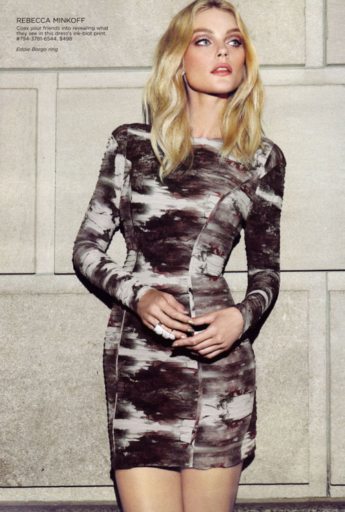 "Jessica Stam in ""Stam x Saks"" Photographed by Max Abadian and styled by Keegan Singh for Saks Fifth Avenue"