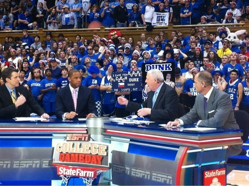 GameDay continues in Cameron. Nice signs in the crowd. View more Duke Basketball on WhoSay