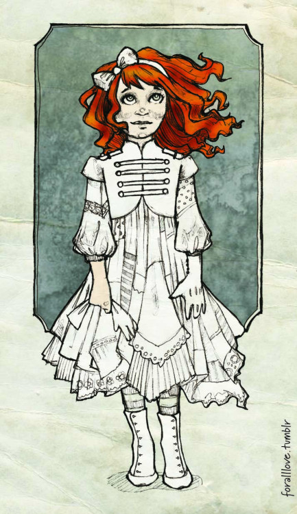 Another Night Circus Drawing….here is Poppet.