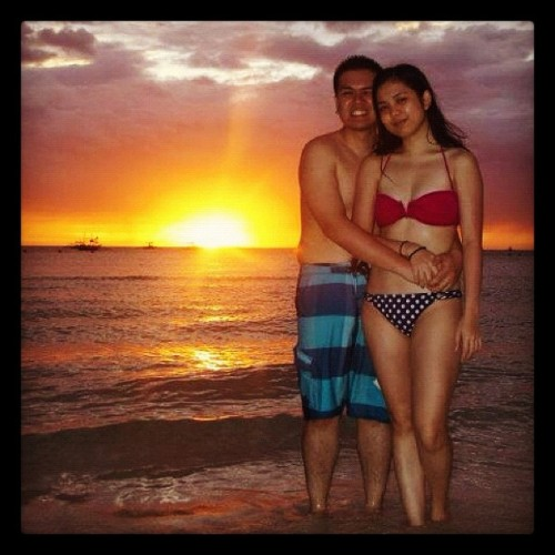 Catch-up: Boracay sunset @djerickfred  (Taken with instagram)