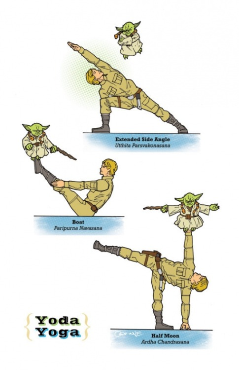 laughingsquid:  Star Wars Yoga by Rob Osborne