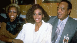 Whitney with her Mom & Dad - 1985