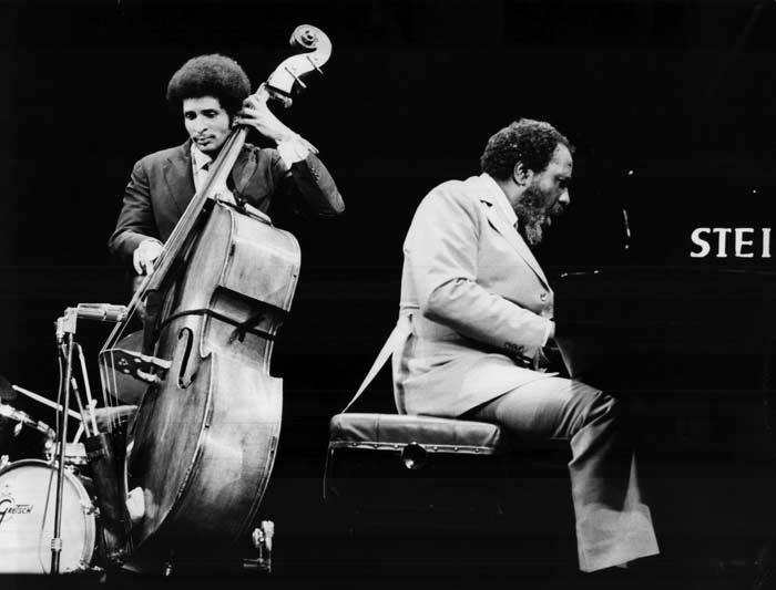 bainer:  Larry Ridley and Thelonious Monk performing circa 1972