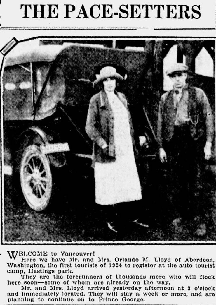 Pace Setters, Monday 3 March 1924 Source: Vancouver Sun