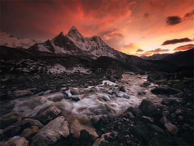 "rebloggingforscience:  ""Ama Dablam Ablze"" by Dan Ransom Photography"