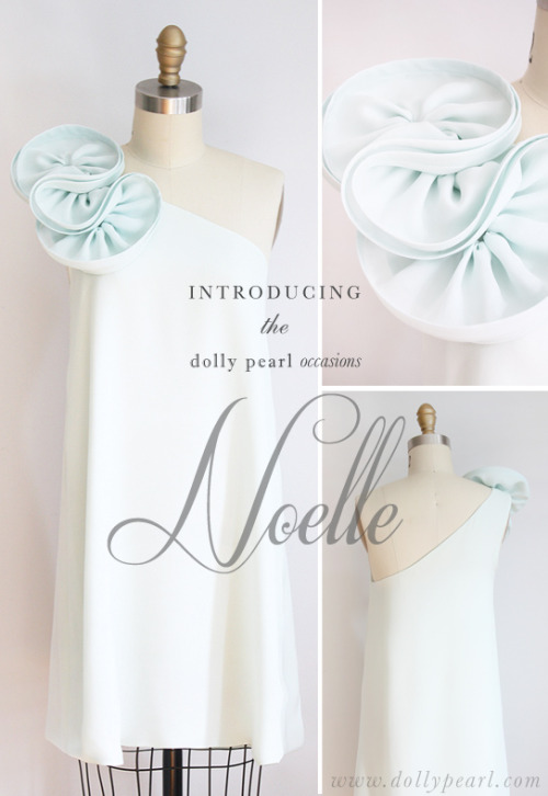 Introducing the Dolly Pearl Occasions 'Noelle' dress ❤ Available at www.dollypearl.com. More color options available.
