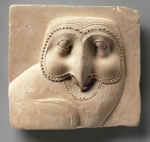 nosuchthingtoday:  Relief Plaque with Face of an OwlEgypt, dating fromm 400–30 B.C