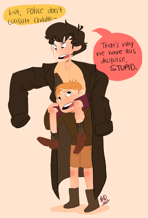 Anon requested some itty-bitty Sherlocks and it was just too cute to pass up!