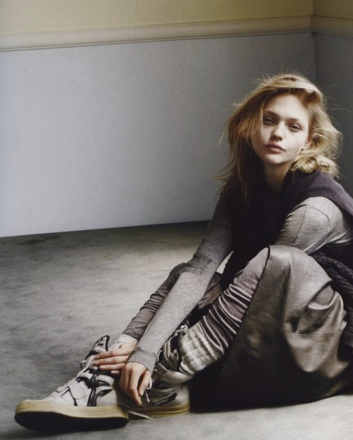 """I Just Want to be Wonderful""  Sasha Pivovarova by Daniel Jackson for i-D September 2006"