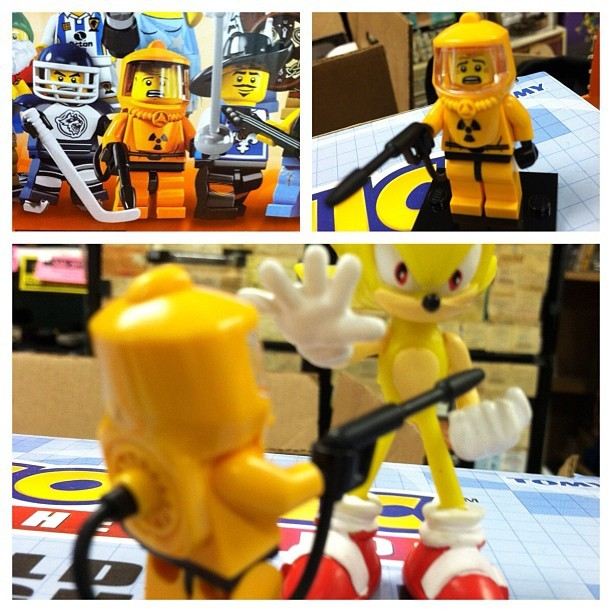 They made a Bob Barker Lego!  (Taken with Instagram at New England Comics)