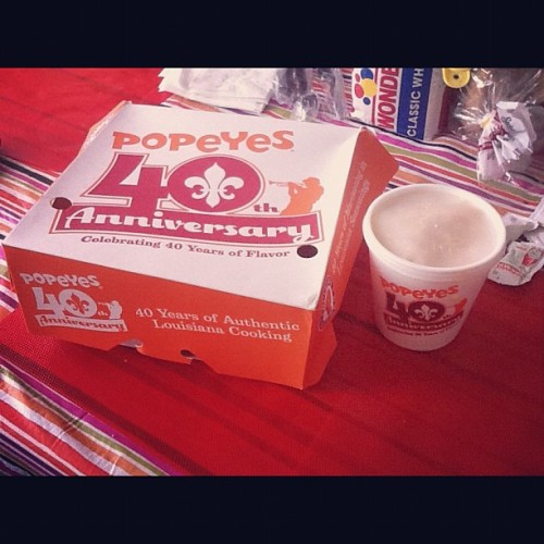 About to go in on some #popeyes #yum (Taken with instagram)