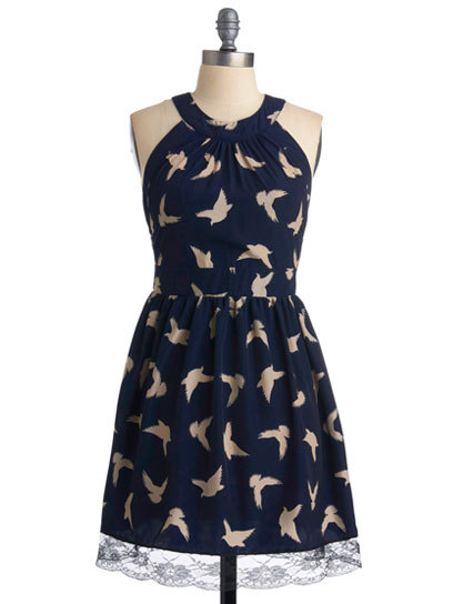 Add a whimsical touch to your Spring look with a quirky bird-printed piece, like this cute dress from ModCloth. Check out more stylish picks here » modcloth.com
