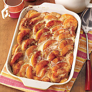 Overnight Peaches and Cream French Toast … we'll be having this Sunday brekkie ♥ Make!!